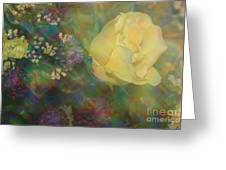 Impressionistic Yellow Rose Greeting Card