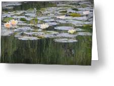 Impressions Of Monet's Water Lilies  Greeting Card
