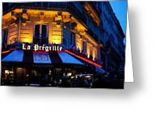 Impressions Of Paris - Latin Quarter Night Life Greeting Card