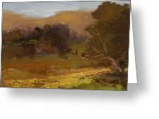 Impressions Of Portola Pastures Greeting Card