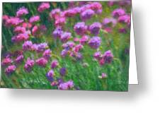 Impressions Of Purple Greeting Card