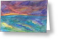 Impressions Of The Sea 1 Greeting Card