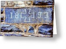 In 1893 Church Cornerstone  Greeting Card
