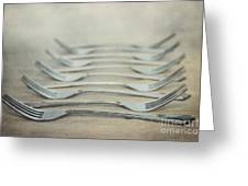 In A Row Greeting Card by Priska Wettstein