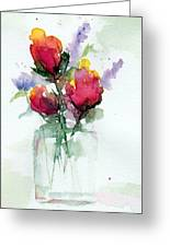 In A Vase Greeting Card