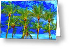 In A World Of Palms Greeting Card