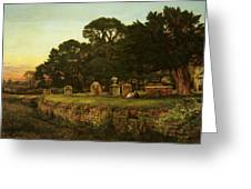 In Country Churchyard Wittington Worcester Greeting Card