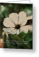 In Every Flower See A Miracle 03 Greeting Card