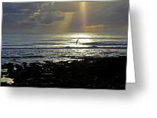 In Heavens Spotlight Greeting Card