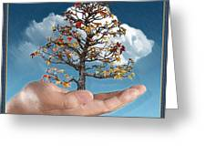 In His Hands Greeting Card