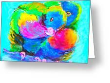 In Love Birds - Lorikeets Greeting Card