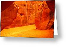 In Orange Chasms Greeting Card