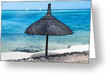 In Perfect Balance. Beach Life Greeting Card