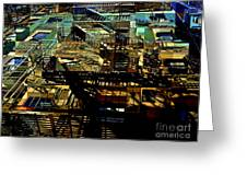 In Perspective - Fire Escapes - Old Buildings Of New York City Greeting Card