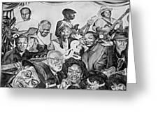 In Praise Of Jazz V Greeting Card