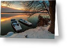 In Safe Harbor Greeting Card by Davorin Mance