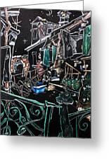 In Sospensione - Wallpaper Venice Italy - Venedig Kunstausstellung Greeting Card