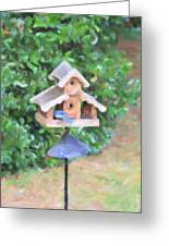 In The Birdhouse - Oil Greeting Card