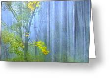 In The Blue Forest Greeting Card