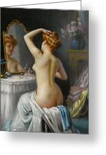 In The Boudoir Greeting Card