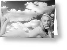 In The Cloud 1082 .01 Greeting Card