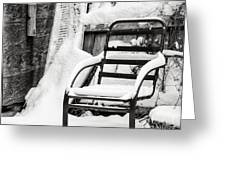 In The Cold Seat Greeting Card