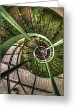 In The Eye Of The Spiral  Greeting Card
