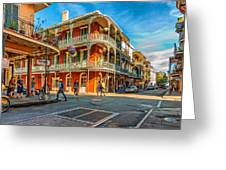 In The French Quarter - Paint Greeting Card