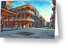 In The French Quarter Painted Greeting Card