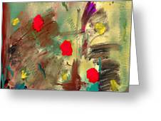 In The Garden  Square Greeting Card