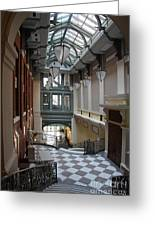 In The Hallway - Peabody Library Greeting Card
