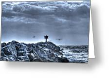 In The Jetty Moss Landing Monterey County  Greeting Card