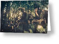 In The Jungle - Vietnam Greeting Card