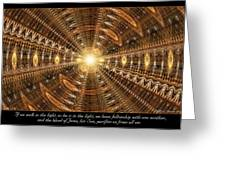 In The Light Greeting Card