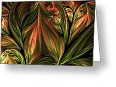 In The Midst Of Nature Abstract Greeting Card