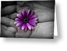 In The Palm Of My Hand Greeting Card