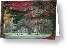 In The Park Square Greeting Card