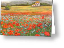 In The Poppy Field Greeting Card
