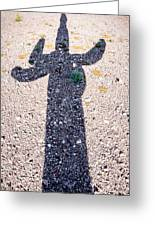 In The Shadow Of A Saguaro Cactus Greeting Card