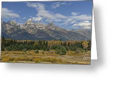 In The Shadow Of The Tetons Greeting Card