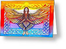 In The Shadow Of Thy Wings Psalms Greeting Card