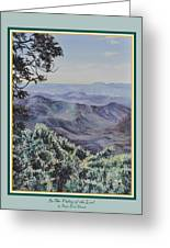In The Valley Of The Lord Print Greeting Card