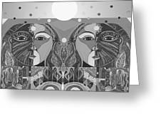 In Unity And Harmony In Grayscale Greeting Card