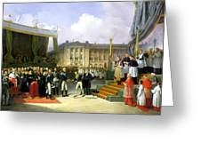 Inauguration Of A Monument In Memory Of Louis Xvi 1754-93 By Charles X 1757-1836 At The Place De La Greeting Card