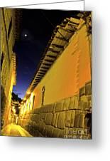 Incan Street Cusco Peru Greeting Card