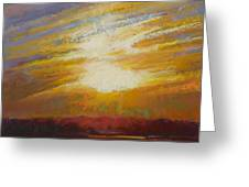Incandescence Greeting Card by Ed Chesnovitch