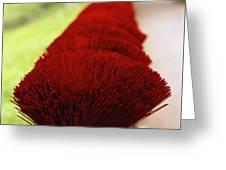 Incense Sticks Greeting Card