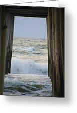 Incoming Tide At 32nd Street Pier Avalon New Jersey Greeting Card