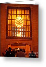 Incredible Art Nouveau Antique Grand Central Station - New York Greeting Card