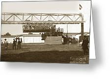 Incredible Hanging Railway  1900 Greeting Card